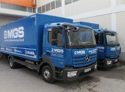 MGS blaue LKW Flotte